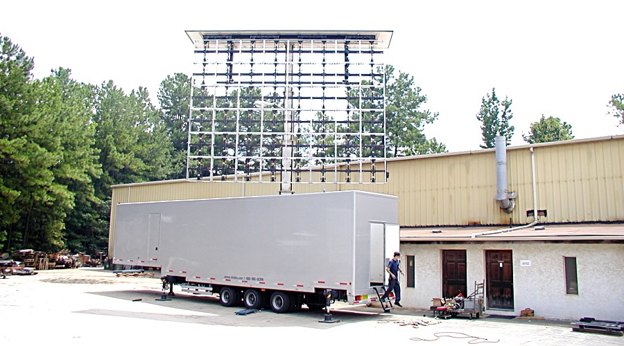 Mobile Truck Screen Up Frame Work